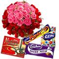 Special Pink and Red Roses with Cadbury chocolate to Dehradun.