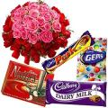 Special Pink and Red Roses with Cadbury chocolate to Amritsar.