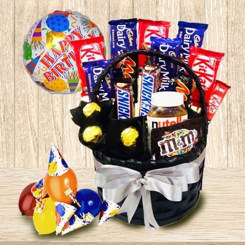 Exclusive Chocolate Gift Basket for Boys and Girls