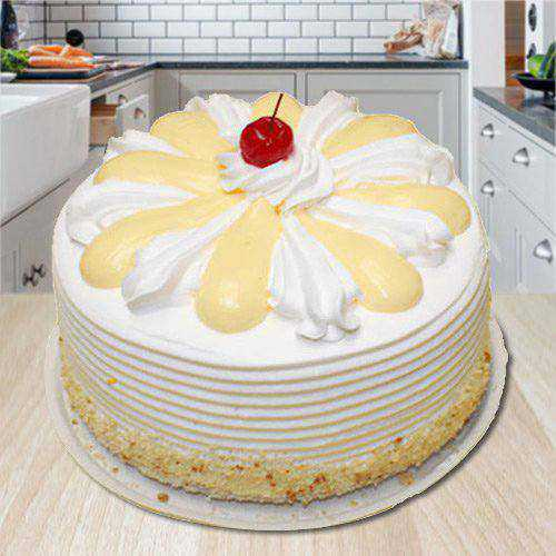 Astounding Bliss 2 Kg Vanilla Cake from 3/4 Star Bakery