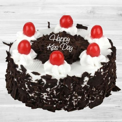 Happy Kiss Day Special Black Forest Cake