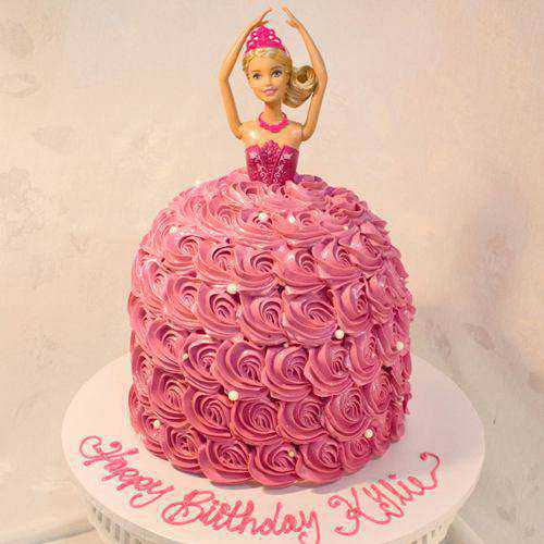 Delicious Barbie Doll Cake for Kids Party