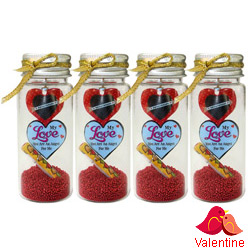 Romantic Nostalgia Message Bottle Set (4 Pcs.)