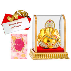 Fabulous Combo of Vignesh Idol, Anniversary Card and Mainland China Voucher