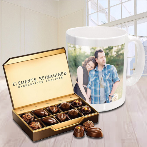 Marvelous Personalized Coffee Mug with ITC Premium Chocolates