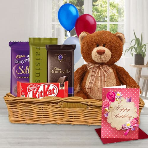 Wonderful Gift Hamper of Birthday Gifts N Chocolates