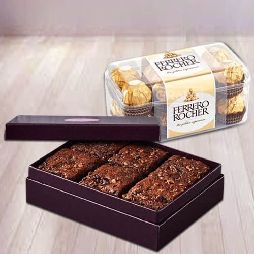 Delectable Brownies with Ferrero Rocher Chocolates