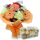 Seasonal Flower Bouquet to Mangalore