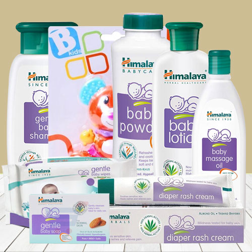 Exclusive Combo of Baby Care Items with Teddy from Himalaya