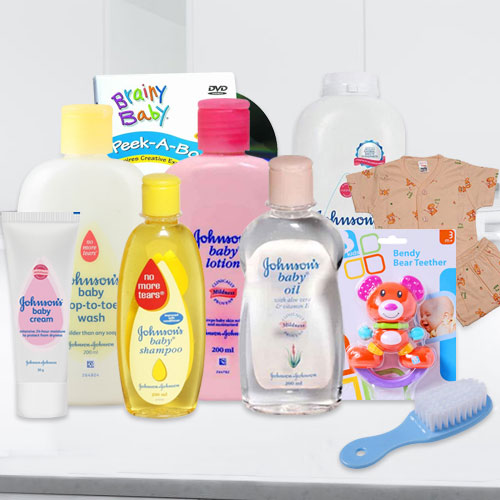 Sensational Johnson Baby Care Gift Set with Touch of Nature