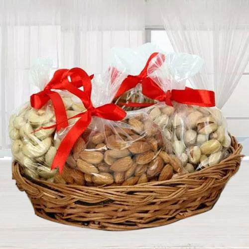 Marvelous Mixed Dry Fruits Basket for Mom