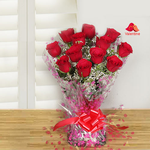 Bouquet of spectacular Red Roses