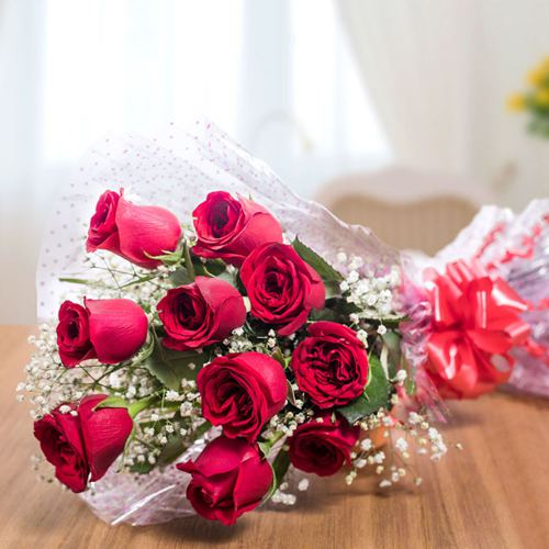10 Red Rose Bouquet