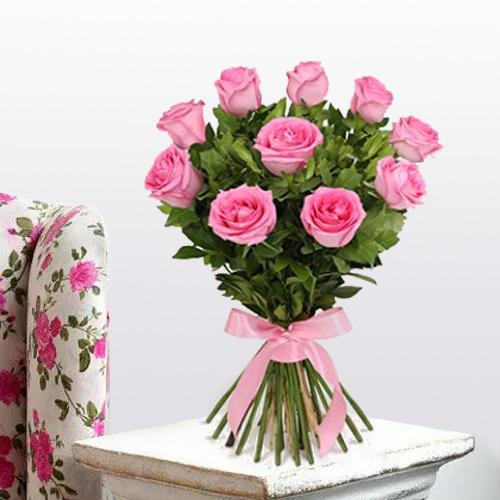 Awesome Pink Roses Bouquet