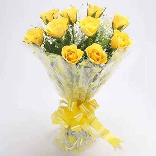 Beautiful Yellow Roses Bouquet