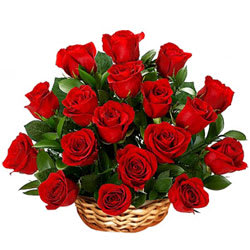 Incredible Red Roses Basket