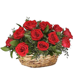 Stylish Anniversary  Arrangement of Red Roses
