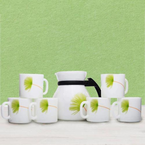 Attractive LaOpala Opalware Cup n Kettle Set