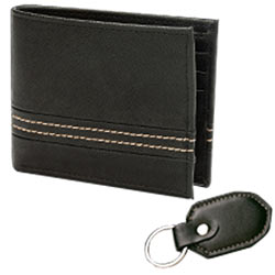 Luxurious Pioneer Men's Wallet and Key Chain Crafted by Avon