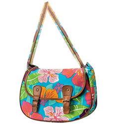 Beautiful Flower Power Messenger Bag Crafted by Avon