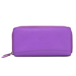 Remarkable Purple Leather Ladies Wallet