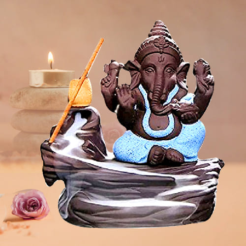 Amazing Bal Ganesha Smoke Fountain Polyresin Showpiece