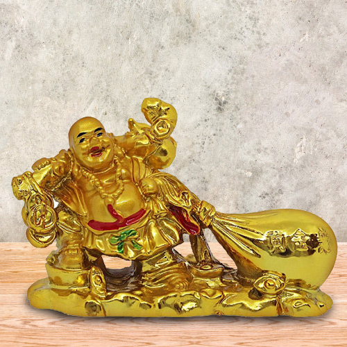 Good Wishes with Feng Shui Laughing budha With Potli