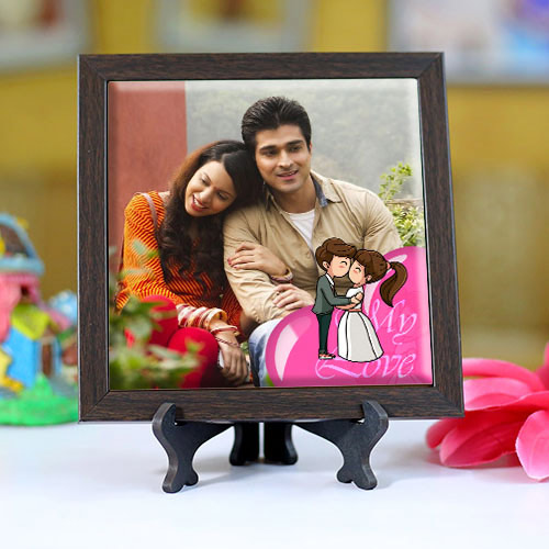 Exquisite Personalized Photo Square Tile