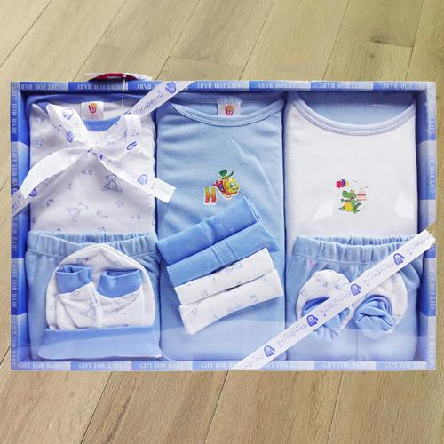 Exclusive Cotton Clothes Gift Set for New Born Boy