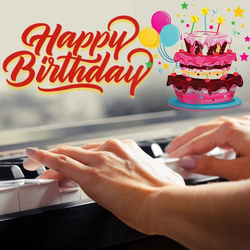 Musical Birthday Wishes with Live Keyboard Tune