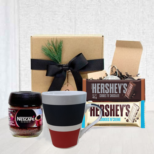 Delectable Gift Basket with Coffee and Cookies Treat for Dad<br>