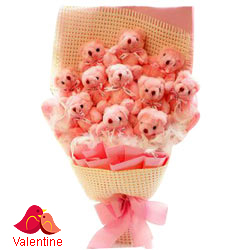 Treasured Pink Teddy Bouquet