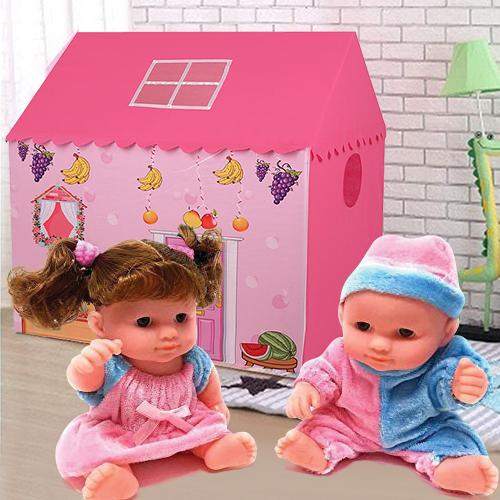 Special My Tent House for Girls with a Playful Doll Set