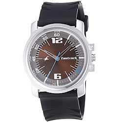 Classic Fastrack Brown and Grey Coloured Dial Gents Watch