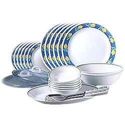 Full Dinner Set for 4 from La Opala